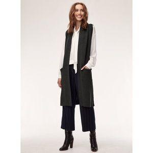 Aritzia Wilfred Olivie Dark Grey Sweater Cardigan